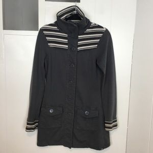 PrAna Button Down Jacket, Adjustable Collar